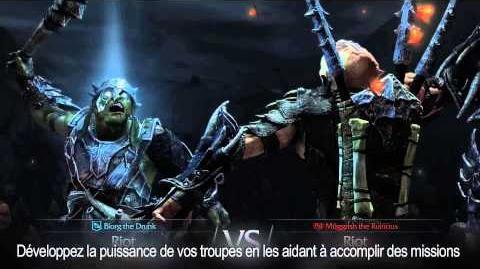 """La Terre du Milieu L'Ombre du Mordor - Gameplay Trailer """" Nemesis System Les Luttes de Pouvoir"""""""