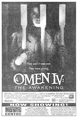 Omen IV screening Sydney Morning Herald 1991-08-10