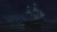 3x09 Pays Imaginaire île Jolly Roger bateau navire vaisseau mer océan