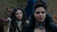 3x13 Blanche-Neige Reine Regina discussion chemin idée plan souterrains