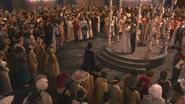 1x01 Méchante Reine Regina arrivée Blanche-Neige Prince David Charmant pavillon mariage