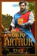 Once Upon a Time season 5 King Arthur legendary leader of Camelot poster