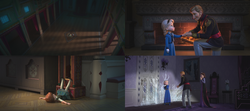La Reine des Neiges (Disney) Anna Elsa enfant Je Voudrais un Bonhomme de Neige Do You Wanna Build a Snowman