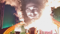 Le Monde Fantastique d'Oz 2013 Oscar Diggs Grand Magicien Oz flammes Palais d'Émeraude