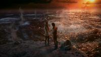 W1x01 Alice Cyrus mers bouillonnantes mains coucher du soleil