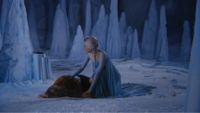 4x02 Elsa Reine des Neiges Emma Swan grotte de glace appel David