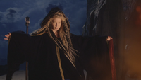 7x10 Mère Gothel manteau cape sorcière bras Malédiction Sort noir