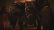 5x13 Megara Cerbère chien à trois têtes des Enfers Hercule victoire défaite mort