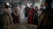 5x05 Camelot groupe Mary Margaret Blanchard David Nolan Henry Mills Emma Swan Killian Jones Capitaine Crochet Regina Belle Fren