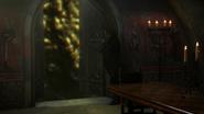 6x02 Rumplestiltskin portail Pays des Histoires Secrètes tables bougies
