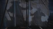3x17 Jolly Roger voile ombres affrontement Barbe Noire Killian Jones Capitaine Crochet