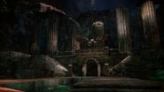 5x14 quai berge temple sanctuaire statue démon gargouille Rivière des Âmes Perdues