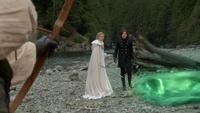 6x10 Robin de Locksley Uchronie Emma Swan Regina Mills portail haricot magique arc magique choc retrouvailles