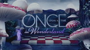 Once Upon a Time in Wonderland logo titlecard générique épisode W1x08