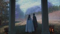 3x12 Aurore Prince Philippe pavillon vue nuage violet annulation Sort noir Malédiction
