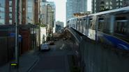7x01 vue Seattle rue quartier Hyperion Heights bar Chez Roni poste de police tramway
