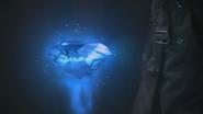 2x22 gros diamant bleu magique détonateur dispositif activé système processus autodestruction enclenché
