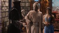 6x15 Jasmine Jafar Sultan d'Agrabah capitale bâton serpent