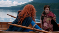 5x06 Merida Belle French barque lac forêt DunBroch demande aide magie frères royaume
