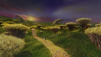 W1x01 Alice Will Scarlet Percy Lapin Blanc début voyage Pays des Merveilles horizon soleil prairies Mimsy bois chuchotants aux murmures