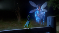 1x05 Fée Bleue transformation Jiminy Cricket criquet magie parapluie conscience