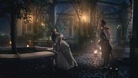 4x20 Reine Regina Shérif de Nottingham rendez-vous soirée jardins palais sombre pommier