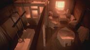 5x13 loft appartement Blanchard Nolan Charmant des Enfers draps drapés couvertures meubles ameublement couverts