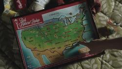 2x06 carte des États-Unis d'Amérique du Nord main doigt Emma Swan désignation Tallahassee
