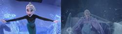 4x05 anecdotes références à Disney La Reine des Neiges Elsa escalier Libérée Délivrée