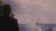 5x15 Hadès dos vue mer océan navire bateau vaisseau Mont Olympe ouverture