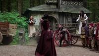 3x02 Reine Regina Prince David Blanche-Neige Grincheux Prof Joyeux Timide paysanne otage