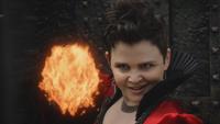 4x21 Méchante Reine Blanche-Neige pouvoirs magiques magie contrôle pyrokinésie boule de feu