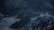 5x15 bateau navire vaisseau cœur tempête mer océan vagues