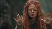 2x14 prophétesse oracle voyante mains yeux prédiction vision futur avenir Sort noir Malédiction magie