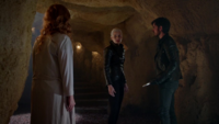 5x08 Emma Swan Cygne Noir Dark Swan Killian Jones Zelena (Storybrooke) révélation plan cave