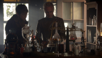 6x03 garage du Dr Whale Frankenstein Dr Jekyll discussion projets scientifiques savants docteurs