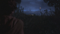 2x21 Baelfire dos vue Londres Angleterre Tour Elizabeth Big Ben