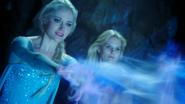 4x09 Elsa Emma Swan magie glace mines destruction rochers passage retrouver Anna
