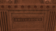 5x18 pierre tombale tombe nom Emily Brown