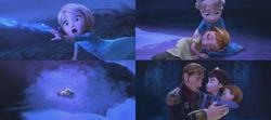 La Reine des Neiges (Disney) Elsa Anna enfant salle de bal accident Roi Reine d'Arendelle