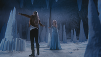 4x02 Emma Swan Elsa prison grotte caverne de glace talkie-walkie