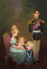Famille royale d'Arendelle concept art