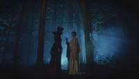 6x07 Méchante Reine Mary Margaret Blanchard défi menace fiole eau Achéron rivière des Âmes Perdues empoisonnée forêt de Storybrooke nuit
