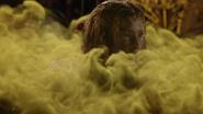 7x19 Gothel visage noir sale vengeur fumée jaune kaki magie robe visage