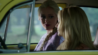 4x05 Emma Swan Elsa Voiture jaune d'Emma cimetière Storybrooke