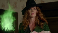 6x13 Zelena (Storybrooke) boule de feu verte menaces Robin
