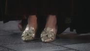 3x16 souliers d'argent pieds Zelena Palais sombre