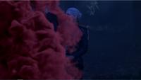 5x10 Emma Dark Swan Killian Jones Capitaine Crochet Ténébreux téléportation nuage de fumée violette abandon mensonge Excalibur forêt nuit