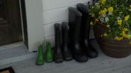6x22 Charming's bottes trois pot de fleur