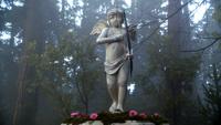 6x14 statue de Cupidon angelot ailes arc flèche